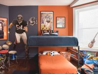 47 Really Fun Sports Themed Bedroom Ideas | Home Remodeling pertaining to Football Bedroom Decorating Ideas