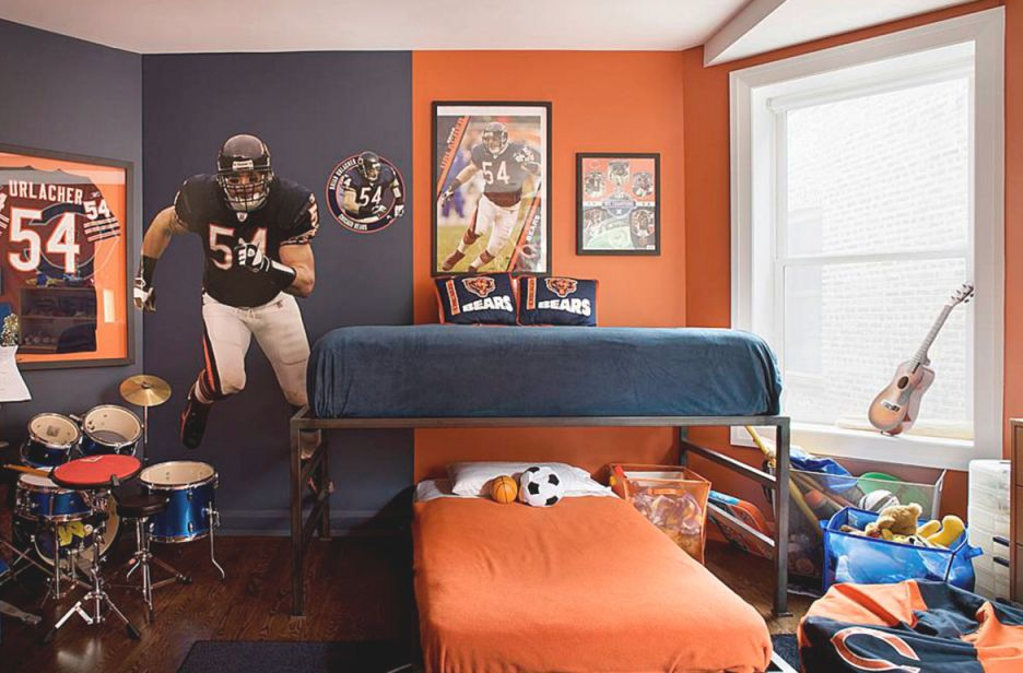 47 Really Fun Sports Themed Bedroom Ideas Home Remodeling Pertaining To Football Bedroom Decorating Ideas Awesome Decors