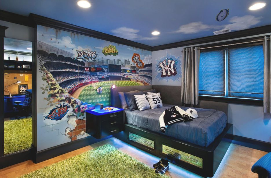 47 Really Fun Sports Themed Bedroom Ideas | Home Remodeling regarding Football Bedroom Decorating Ideas
