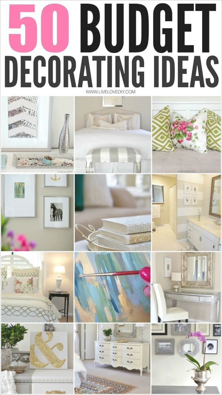 50 Budget Decorating Tips You Should Know! (Livelovediy within Bedroom Cheap Decorating Ideas
