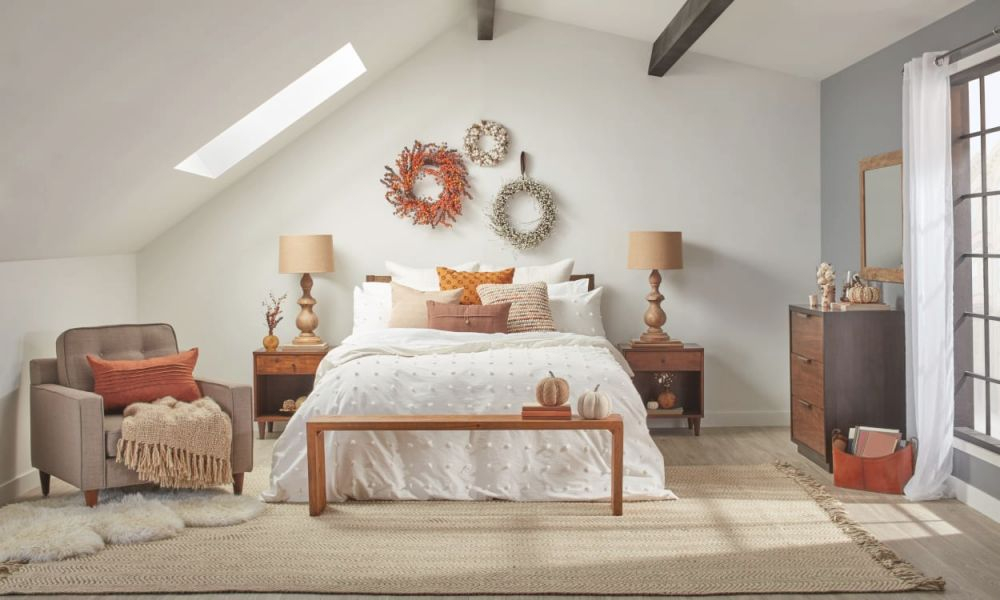 8 Fall Bedroom Ideas For A Cozy Autumn Refresh – Overstock throughout Awesome Decorating Ideas For A Bedroom