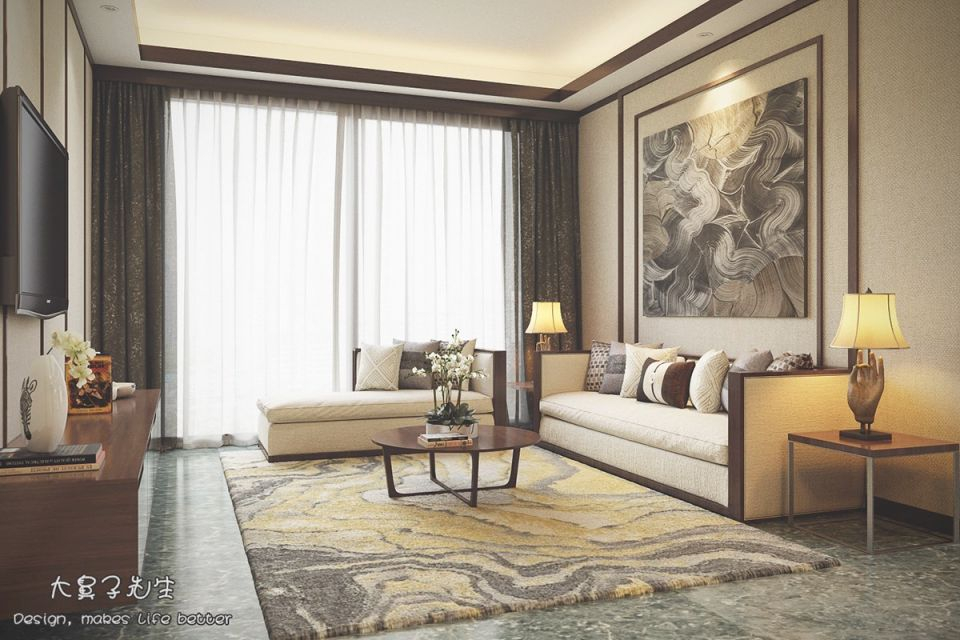 Beautiful Apartment Interior Design With Chinese Style - Roohome inside New Chinese Bedroom Decorating Ideas