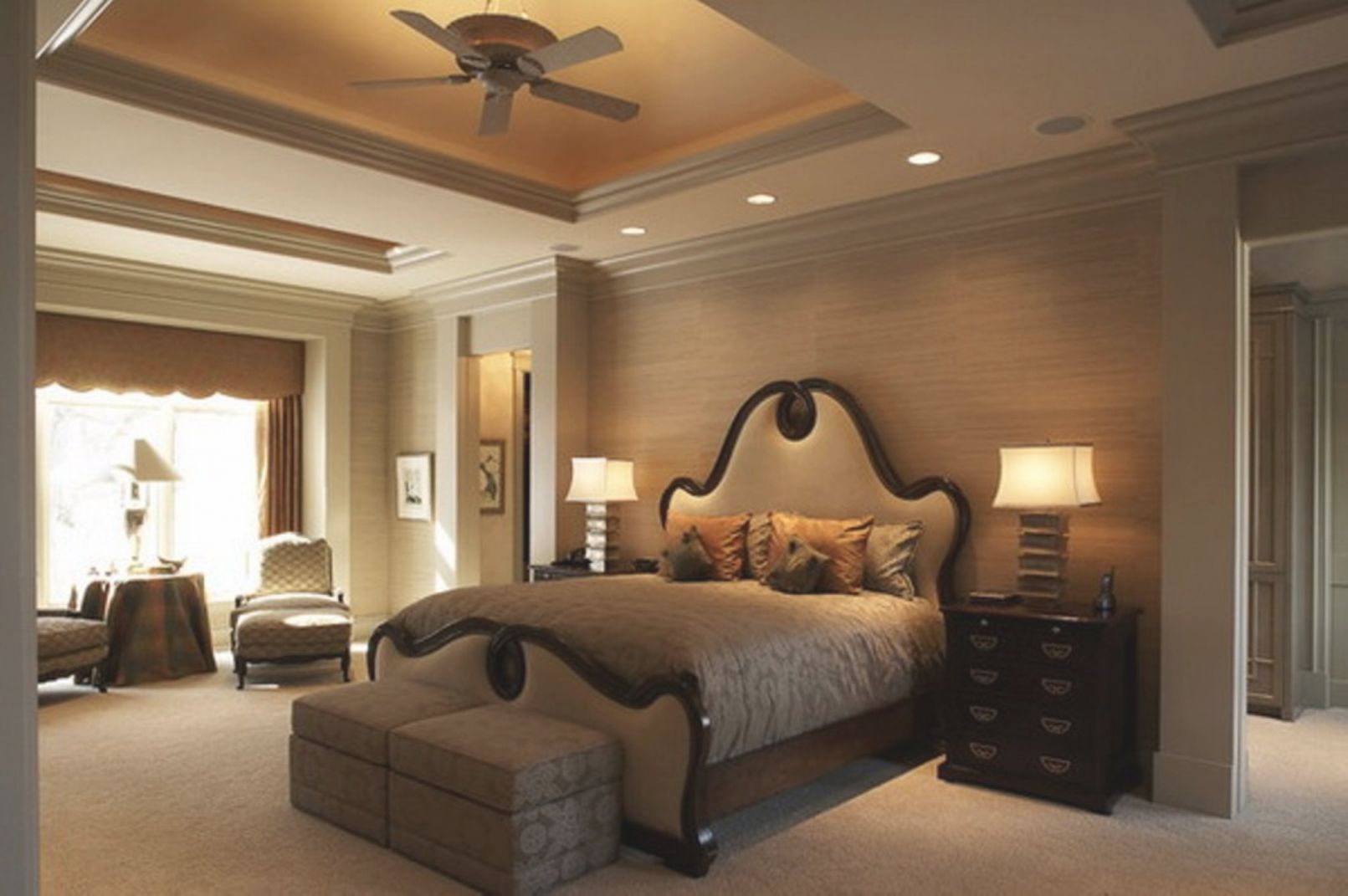Bedroom Contemporary Ceiling Simple Designs For Master throughout Home Decor Ideas For Master Bedroom