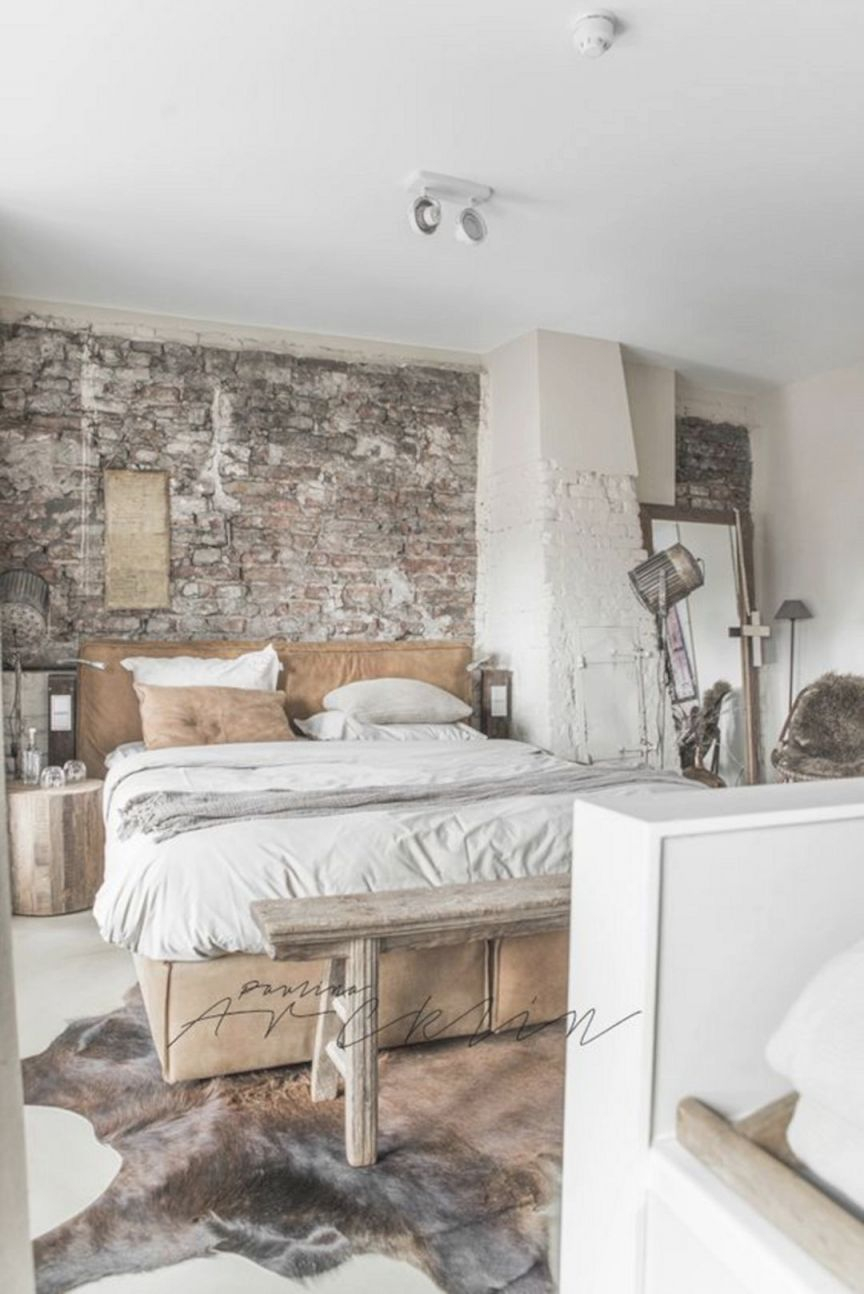 Bedroom Ideas : Awesome Industrial Design For Unique Style within Unique Rustic Bedroom Decorating Ideas