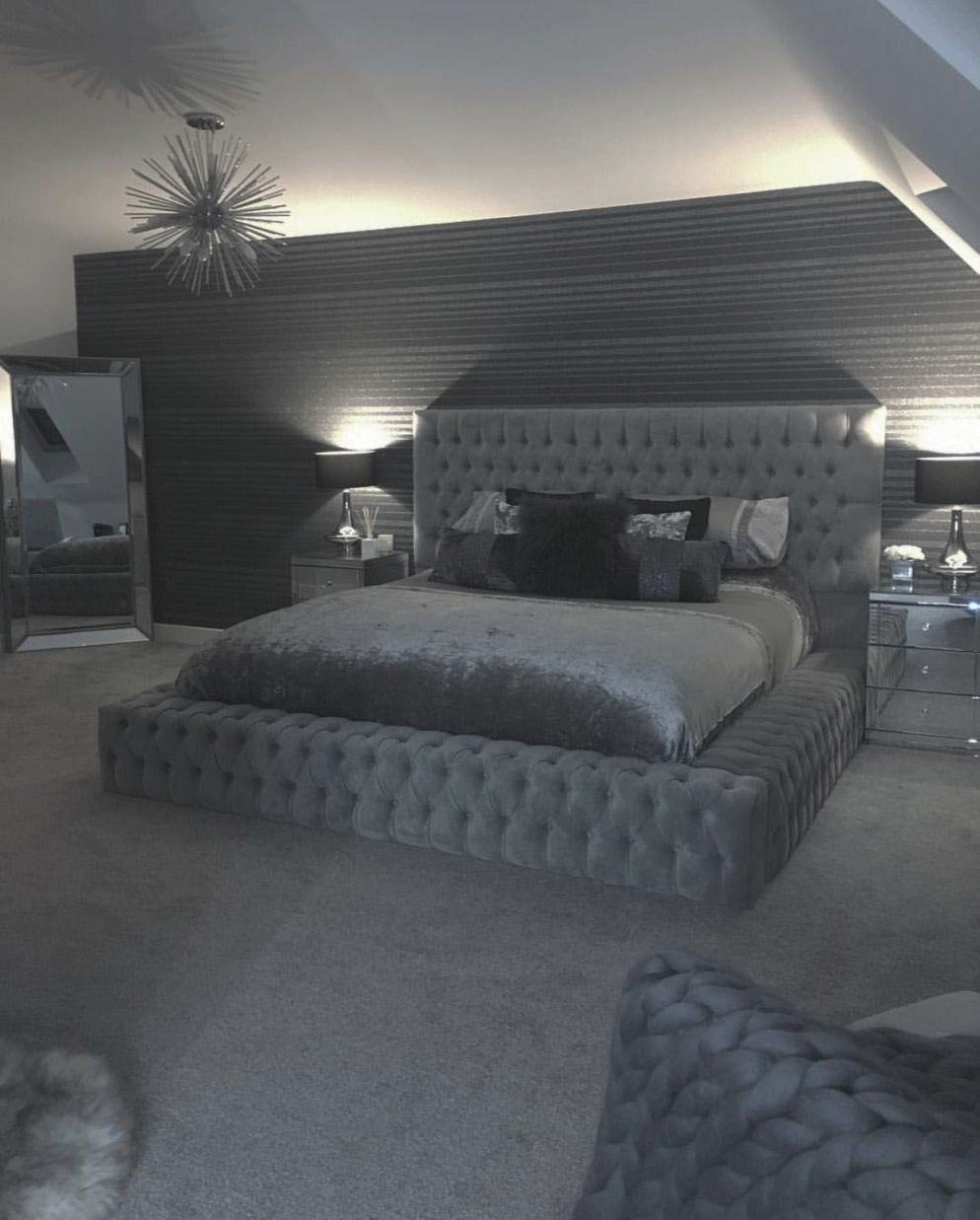 Excellent Grey White Bedroom Decorating Ideas Tips For 2019 with Beautiful Black And Grey Bedroom Decorating Ideas