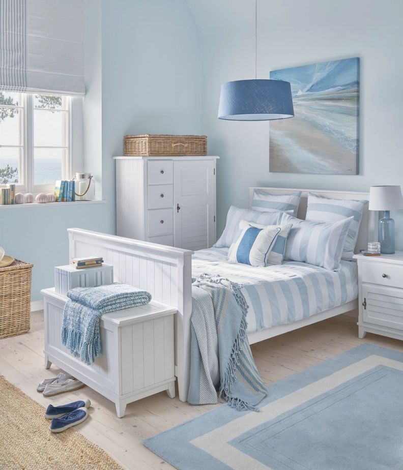 Harbour: Cool, Coastal Interiors | Woman Bedroom, Coastal for Luxury Seaside Bedroom Decorating Ideas