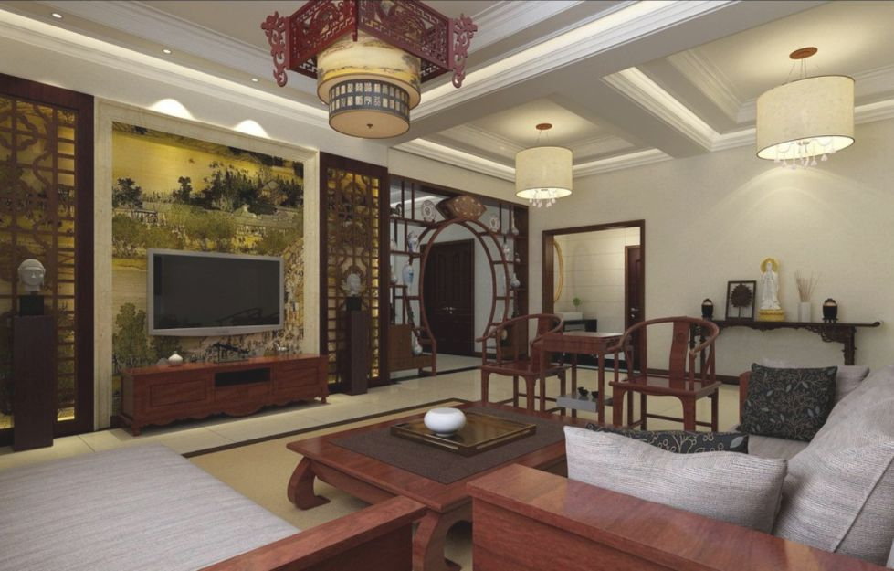 Interior Alluring Office Home Mediterranean Style Asian with Chinese Bedroom Decorating Ideas