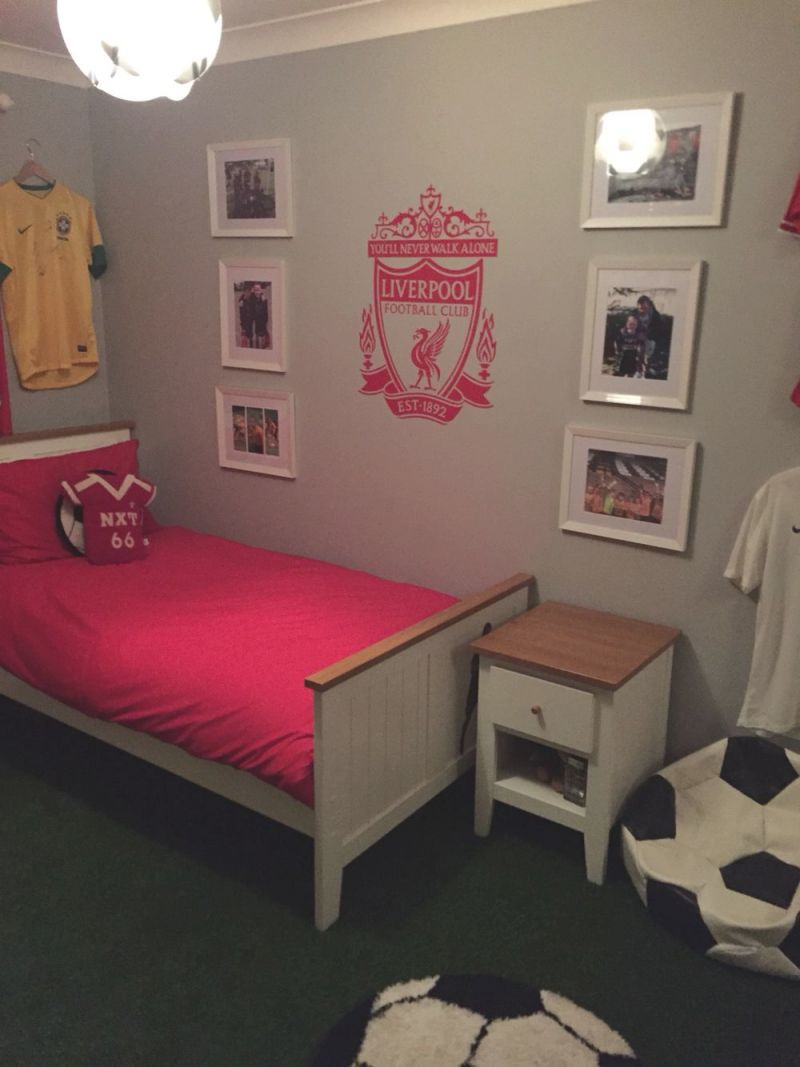 Lfc Bedroom | Football Bedroom, Wood Bedroom Sets, Bedroom Decor intended for Football Bedroom Decorating Ideas