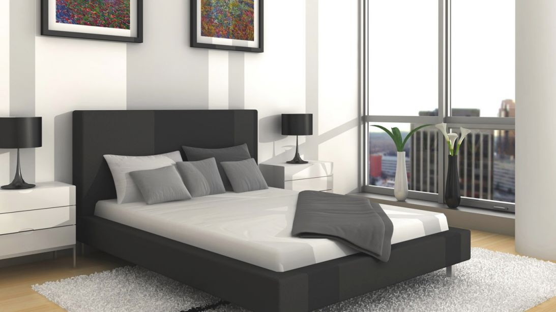 Luxurious Bedroom Design With Black, Grey And White Color in Beautiful Black And Grey Bedroom Decorating Ideas