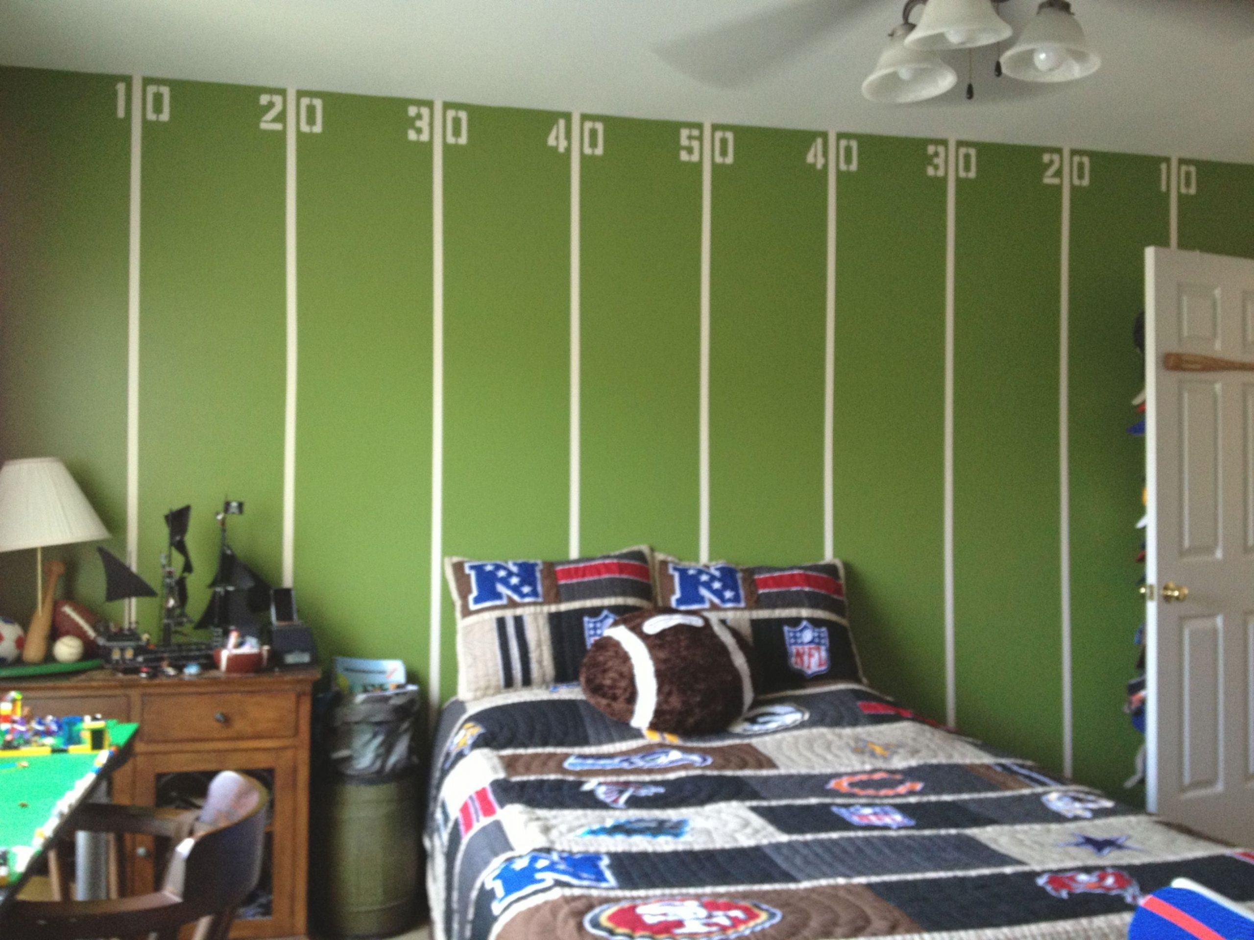 My Boys Tween Football Room! | Football Bedroom, Football pertaining to Awesome Football Bedroom Decorating Ideas