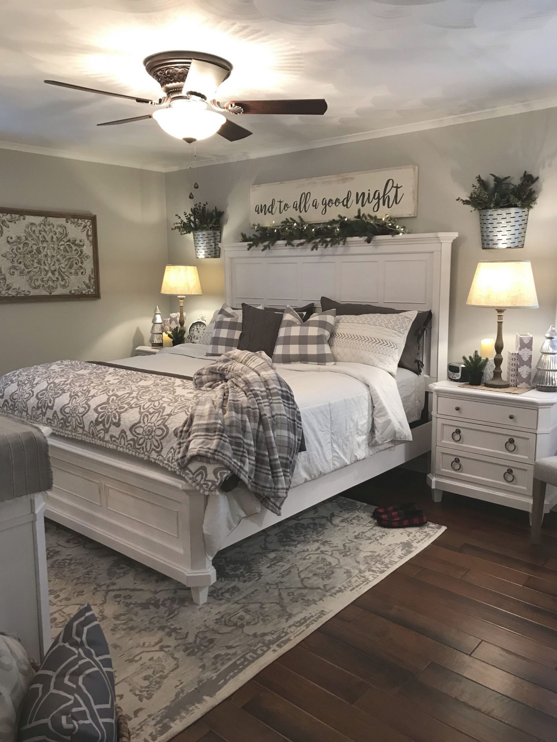 Pinbwarren On Home Rustic Master Bedroom Farmhouse Throughout Home Decor Ideas For Master Bedroom Awesome Decors