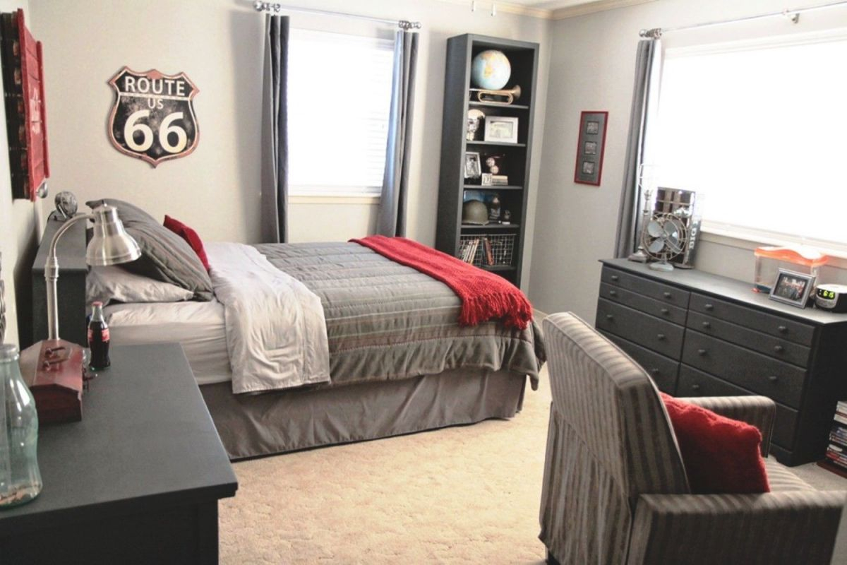 Red And Grey Bedroom | Bedroom Ideas For Teenage Girls Diy in Beautiful Black And Grey Bedroom Decorating Ideas