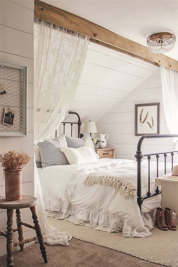 Romantic Rustic Farmhouse Master Bedroom Decorating Ideas inside Rustic Bedroom Decorating Ideas