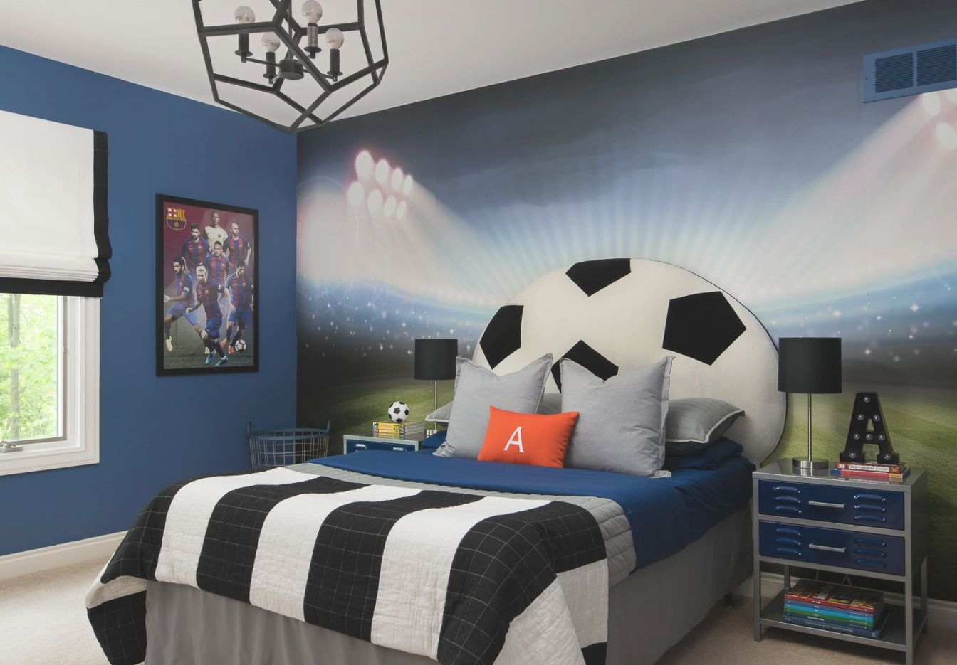 Soccer Themed Bedroom | Soccer Room, Football Bedroom pertaining to Awesome Football Bedroom Decorating Ideas