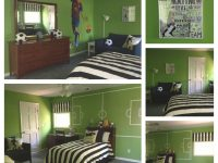 Sounders Green, Black & White Accents And Large Soccer intended for Football Bedroom Decorating Ideas