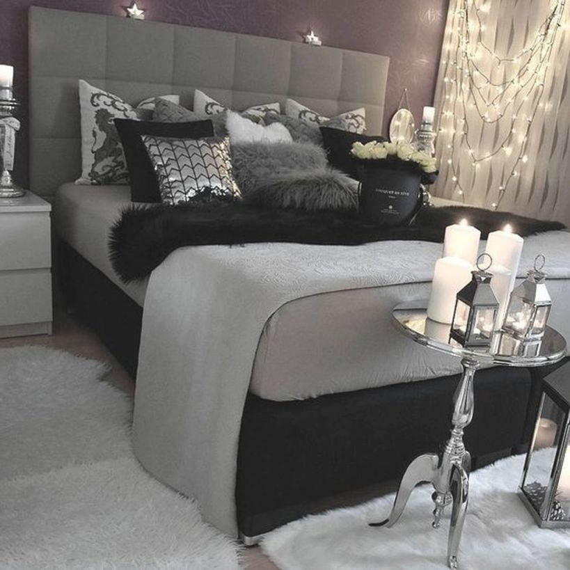 Stylish Black And White Bedroom Ideas 1 Pertaining To Grey Decorating Awesome Decors