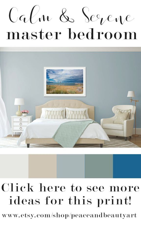 The Calm Color Palette Of This Relaxing, Serene, Master intended for Luxury Relaxing Master Bedroom Decorating Ideas
