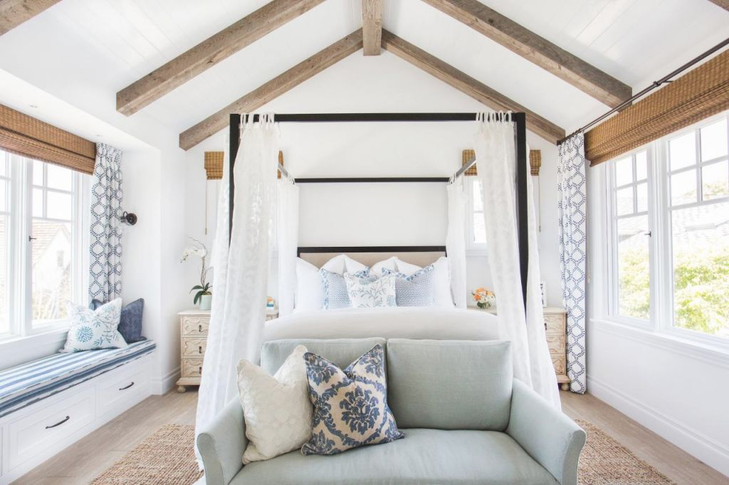 Tour This Breezy Coastal Master Suite | Hgtv's Decorating intended for Luxury Seaside Bedroom Decorating Ideas