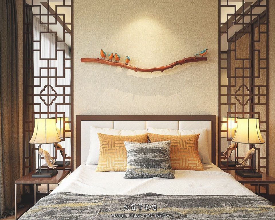 Two Modern Interiors Inspiredtraditional Chinese Decor regarding Chinese Bedroom Decorating Ideas
