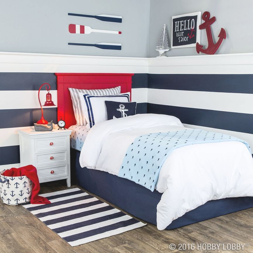 Your Favorite Little Sailor Will Love Anchoring Down In This throughout Awesome Little Boy Bedroom Decorating Ideas