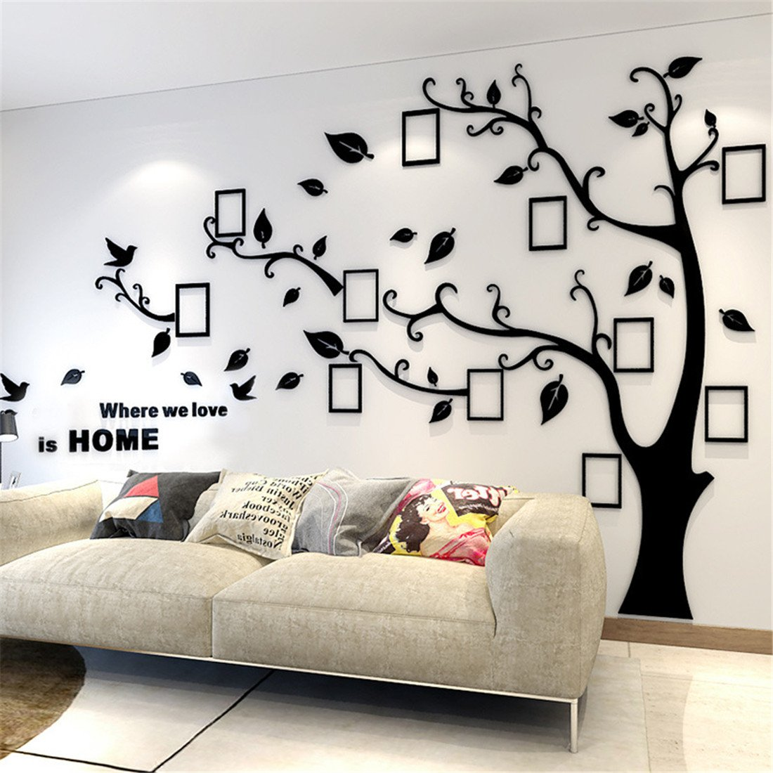 Tree wall decals to conserve sweet memories in the interior design