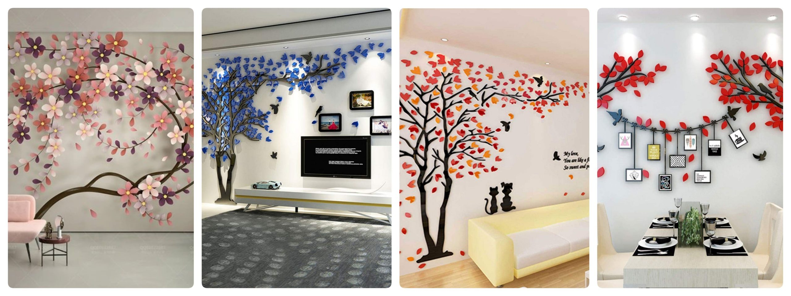 Colorful wall decals for your apartment