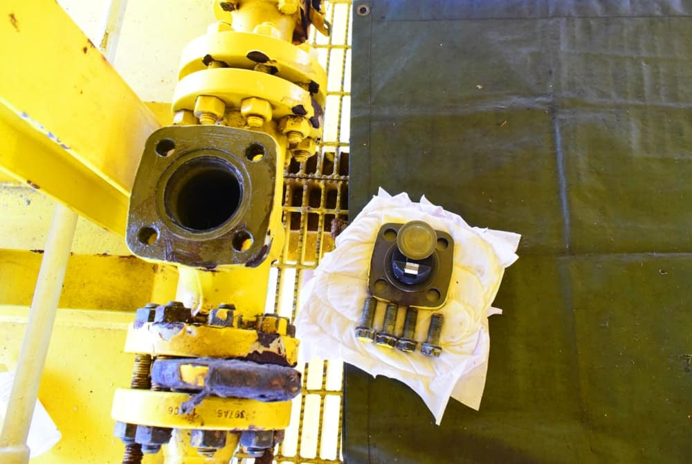 PM and Inspection check valve on closed drain sump pump process.