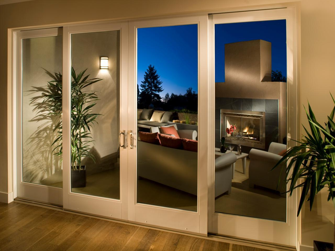 Loggia with sectional glass doors