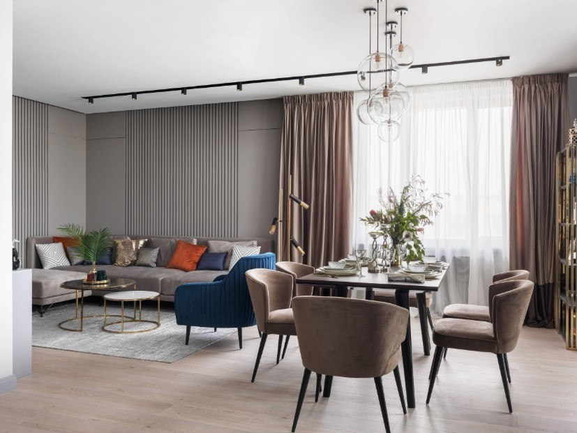 Best Modern Living Room Design Trends 2020. Spacious room with light atmosphere