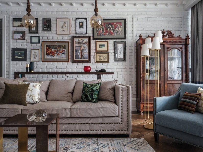 Best Modern Living Room Design Trends 2020. Retro style in the casual room