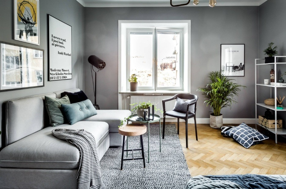 Best Modern Living Room Design Trends 2020. Gray contemporary styled room