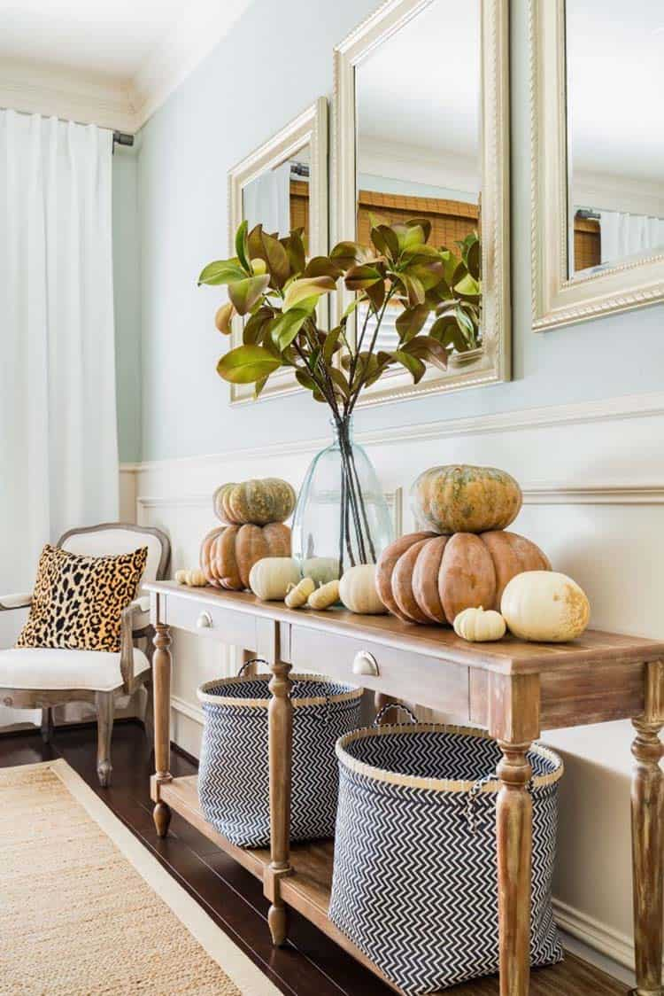 Console-Table-Fall-Decor-Ideas-18-1-Kindesign