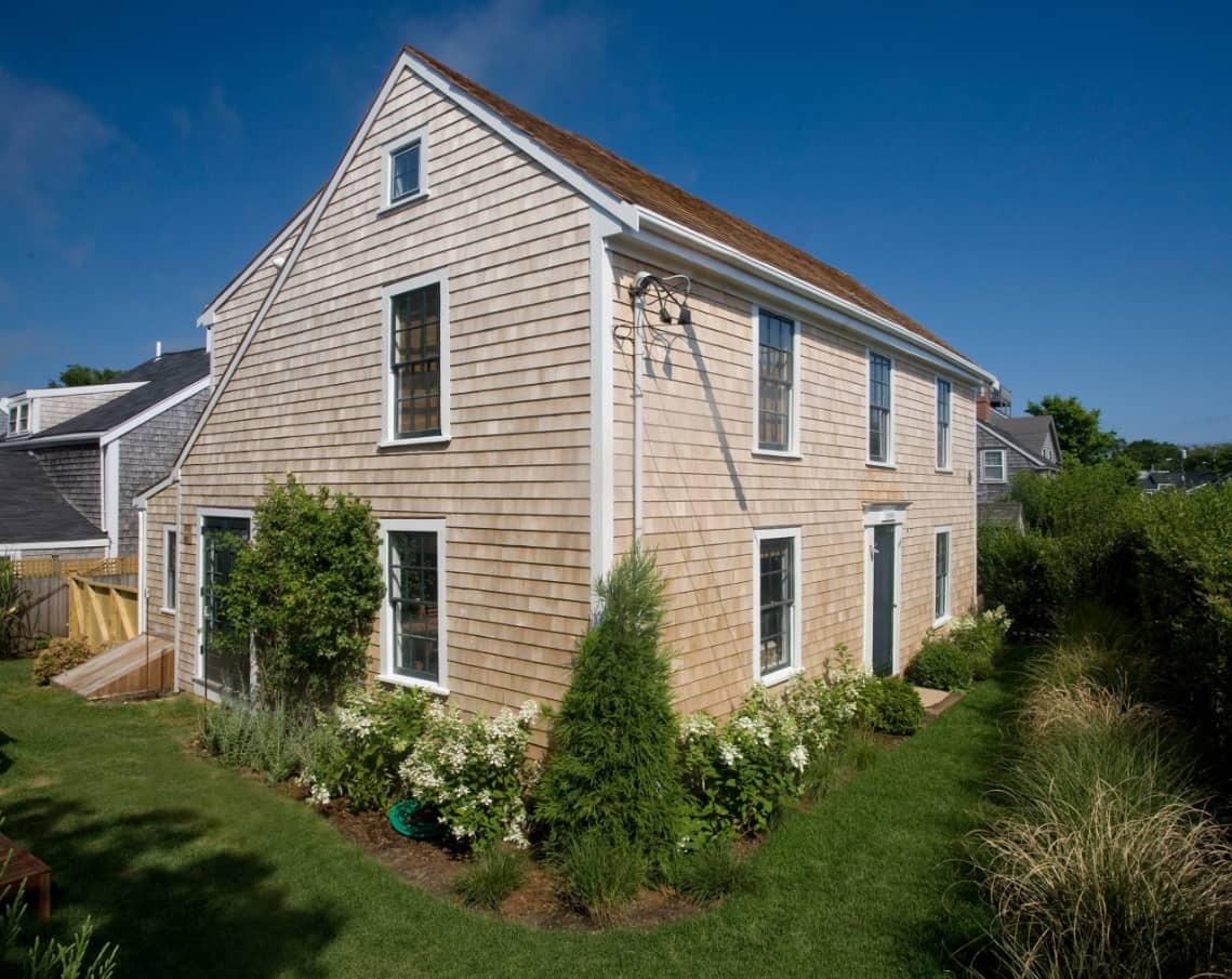 Saltbox roof that makes Classic house more inviting and joyful