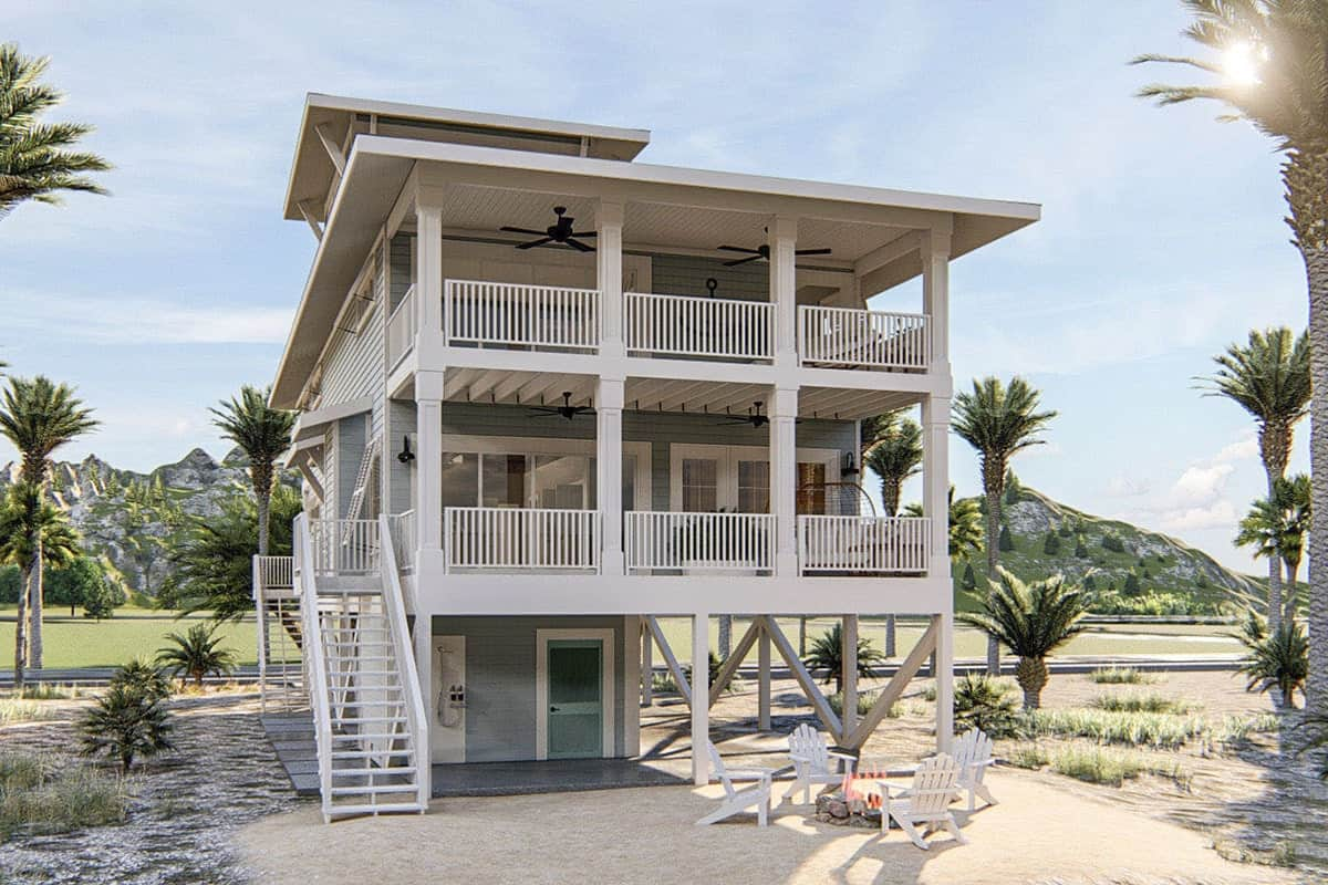 5-Bedroom Three-Story Beach House with a Lookout