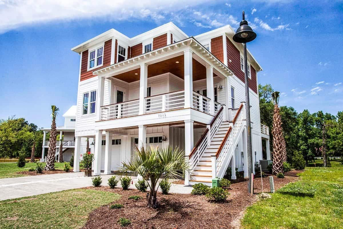 Two-Story 4-Bedroom Beach-Style Home