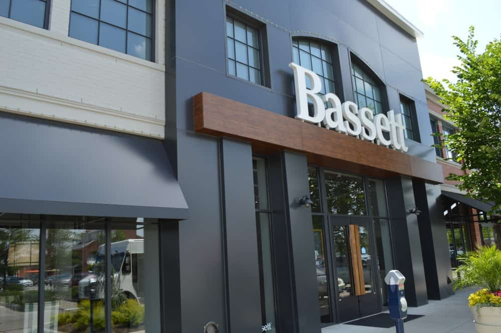 Storefront of the Bassett store in Columbus, Ohio.