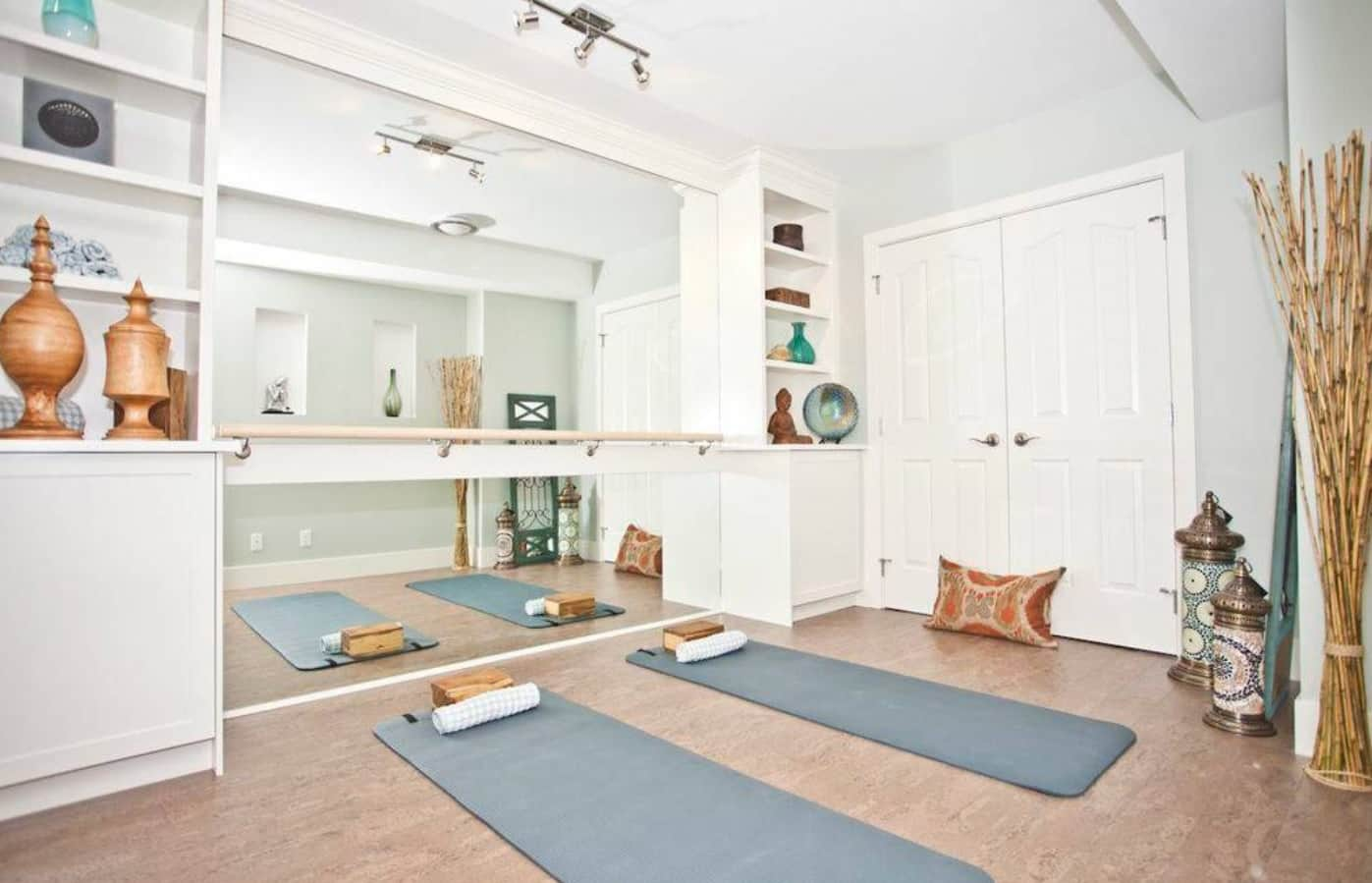 5 Ways To Create A Meditation Space In Your Home. White casual styled room with gray mats
