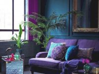 15 Gorgeous Living Room Green Purple Interior You Need To with 13+ Unique Ideas For Purple And Green Living Room Decor