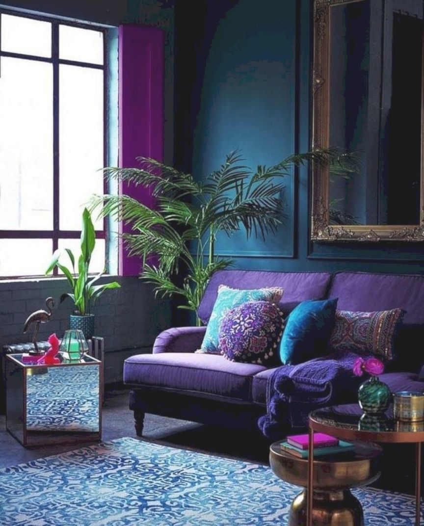 22+ Unique Ideas For Purple And Green Living Room Decor - Awesome