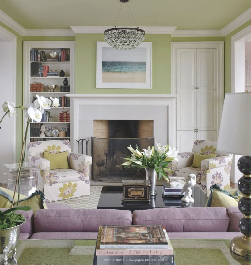 40+ Awesome Living Room Green And Purple Interior Color within Purple And Green Living Room Decor
