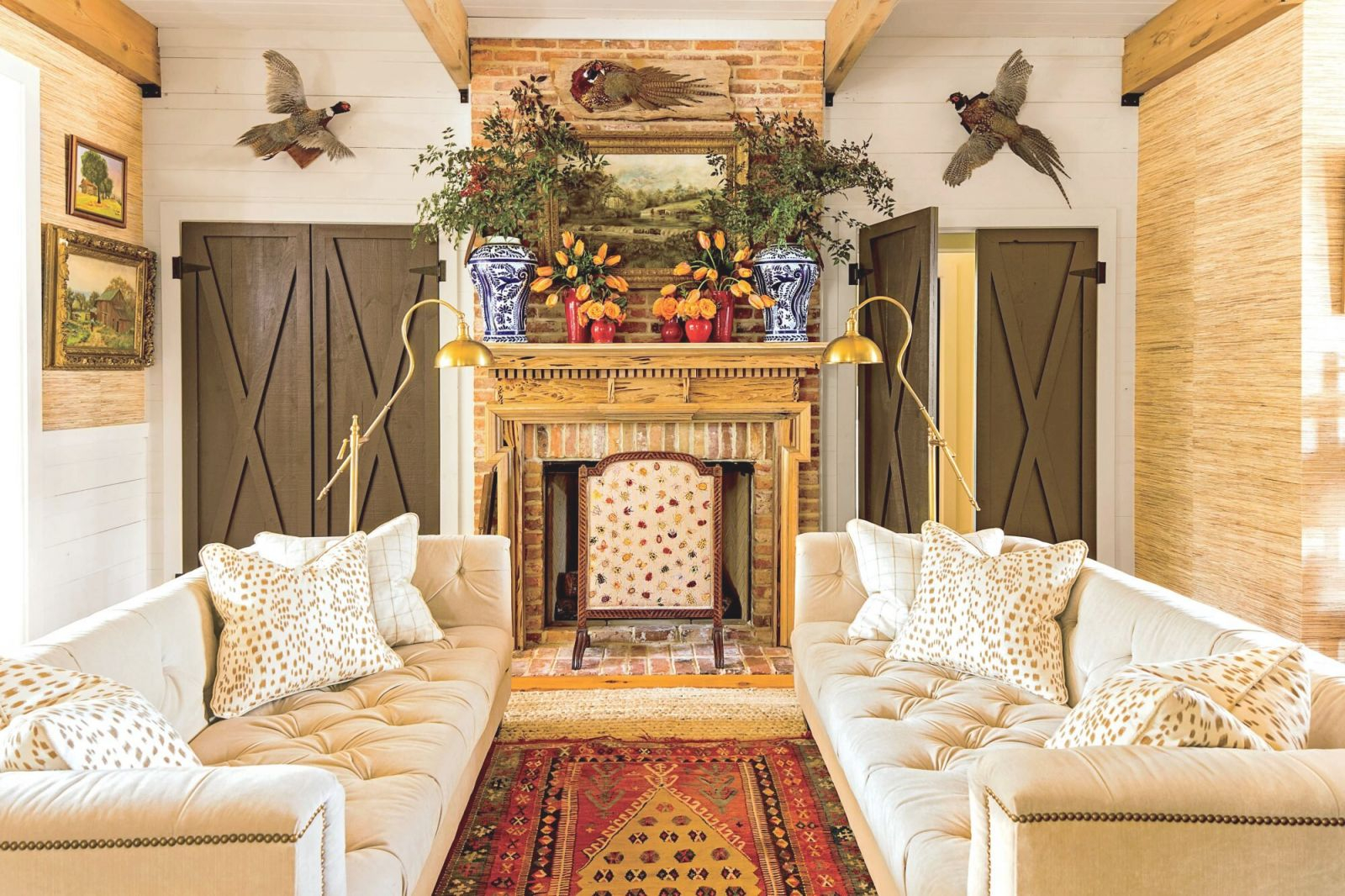 45 Farmhouse D_Cor Ideas For Your Southern Home | Southern with 10+ Unique Gallery Hunting Decor For Living Room
