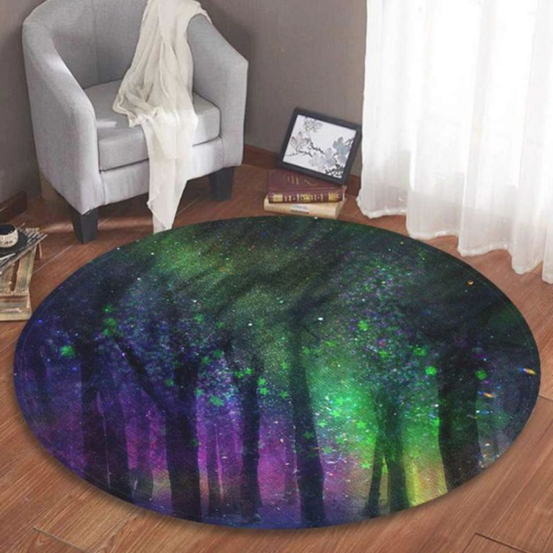 5Colors Round Soft Flannel Non-Slip Area Rug Floor Mat Entry Decor Pad Home Roundie Carpet Living Room Bedroom Children Playroom within 12+ Awesome Gallery For Decor Pad Living Room