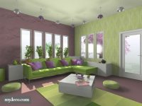 7 Living Room Color Schemes Sure To Brighten Your Mood intended for Purple And Green Living Room Decor