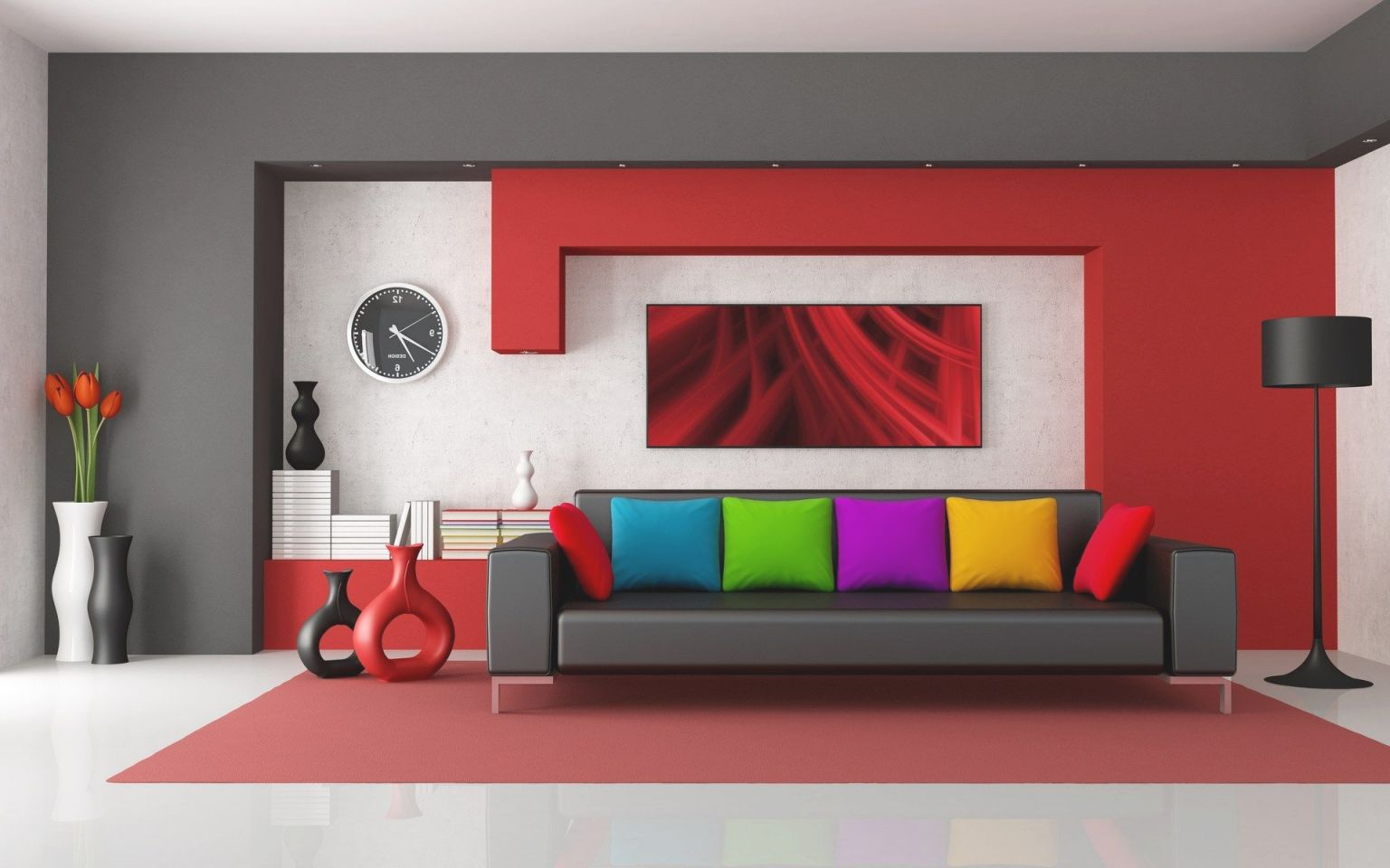 Bedroom-Colorful-Living-Room-Ideas-2014-For-Clutter-Free-And in 15 Gallery Inspiration For Living Room Decorating Ideas 2014