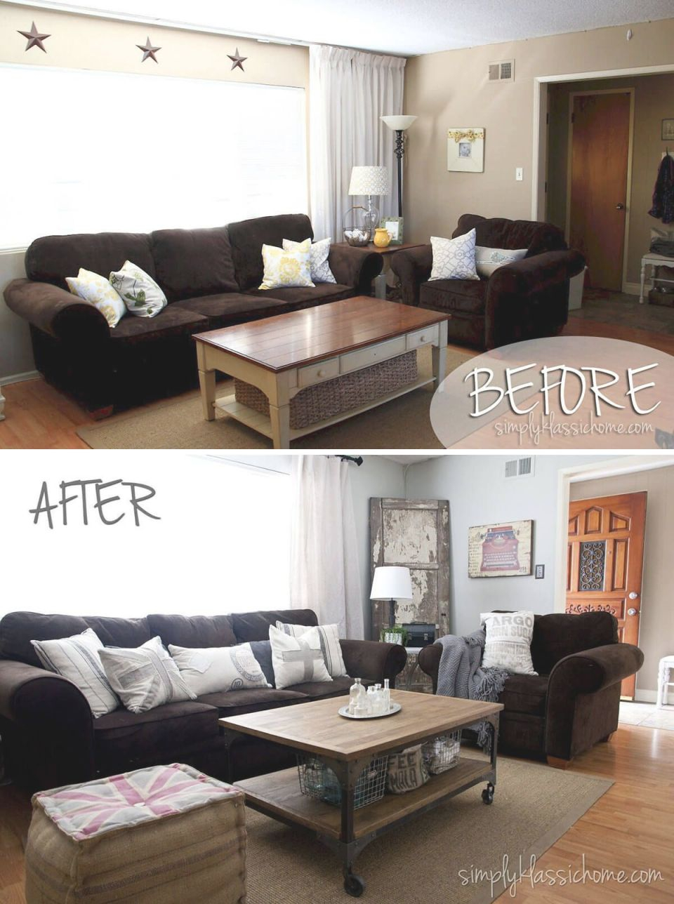 Before And After: 26 Budget Friendly Living Room Makeovers pertaining to 13+ Unique Ideas For Decorating A Small Living Room On A Budget
