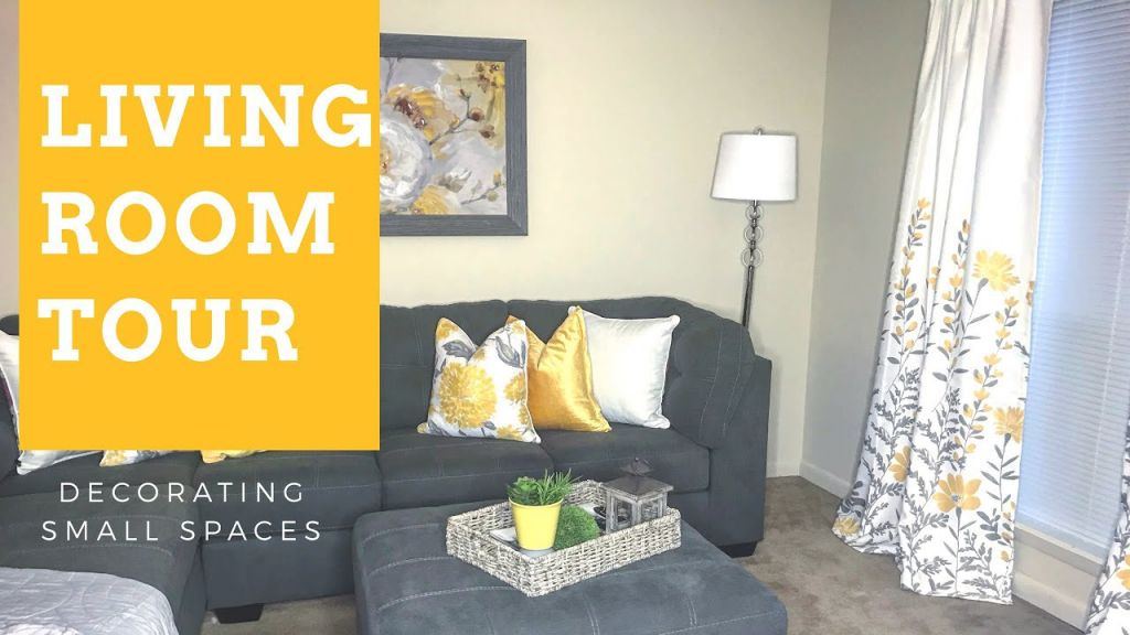 Decorating Small Spaces: Living Room Tour {Apartment} pertaining to 13+ Beautiful Ideas For Decoration Small Living Room