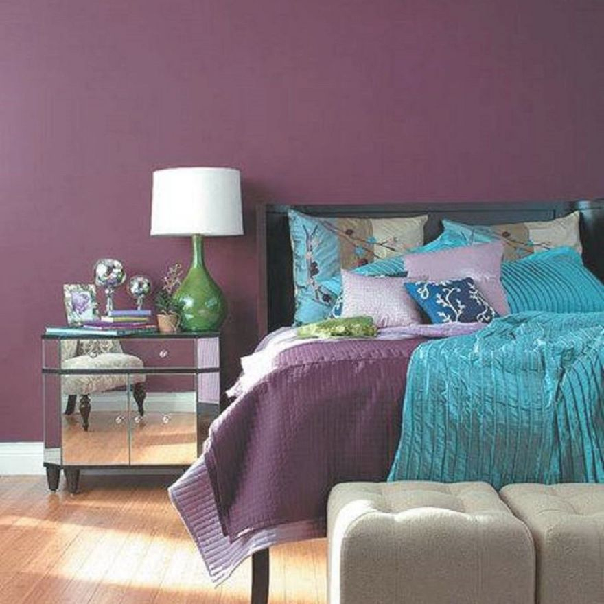 Decorating Your Bedroom With Green, Blue, And Purple regarding Purple And Green Living Room Decor