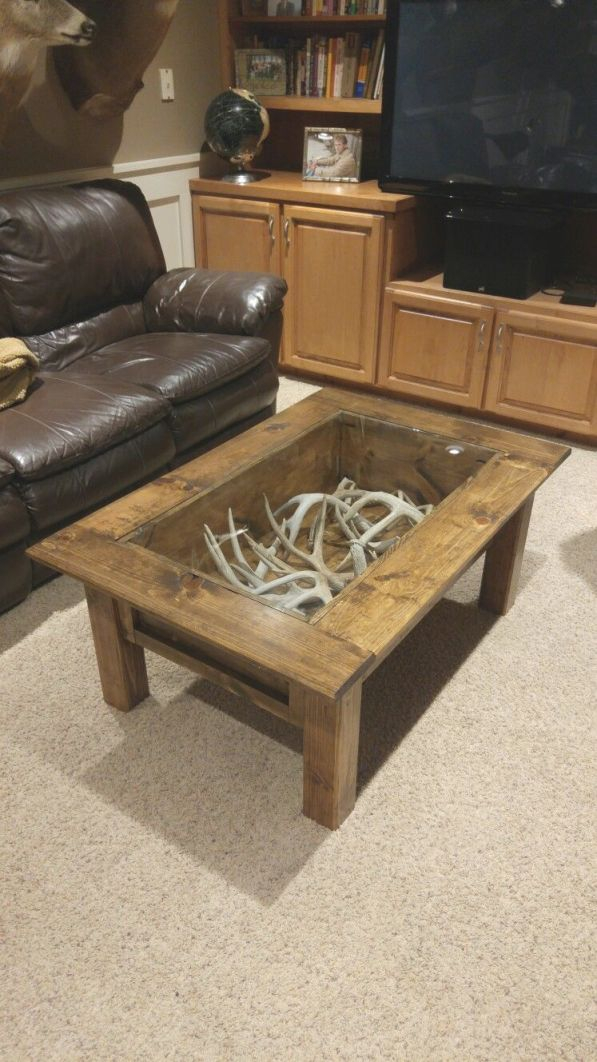 Deer Antler Sheds Coffee Table | Home Decor, Home, Rustic House in Hunting Decor For Living Room