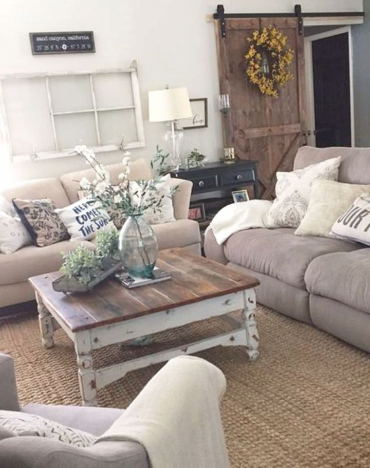 Farmhouse Living Rooms} • Modern Farmhouse Living Room Decor inside 8+ Amazing Ideas For Ideas For Living Room Decoration Modern