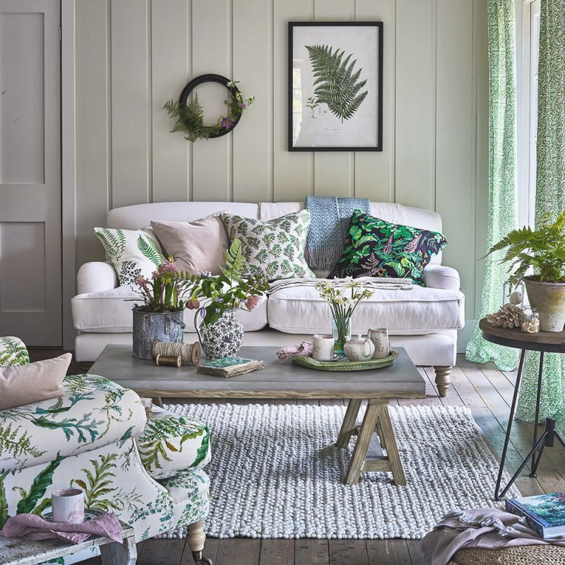 Green Living Room Ideas For Soothing, Sophisticated Spaces with regard to Purple And Green Living Room Decor